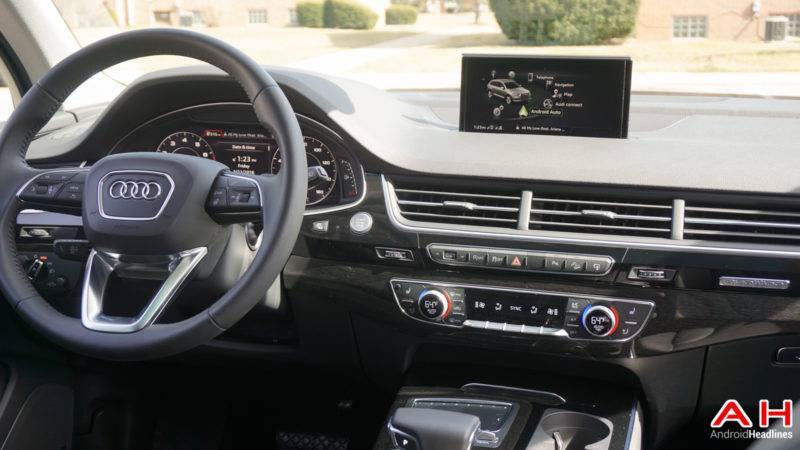 hands on android auto in the 2017 audi q7 android news. Black Bedroom Furniture Sets. Home Design Ideas