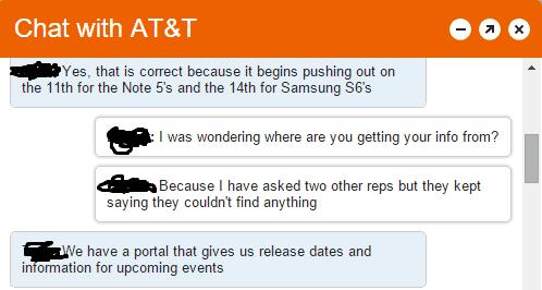 ATT Note 5, GS6 Update