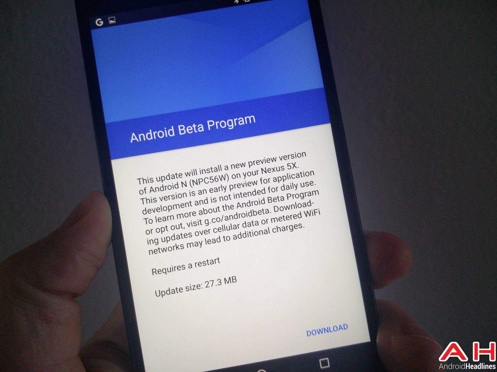 Android N OTA Update AH-1