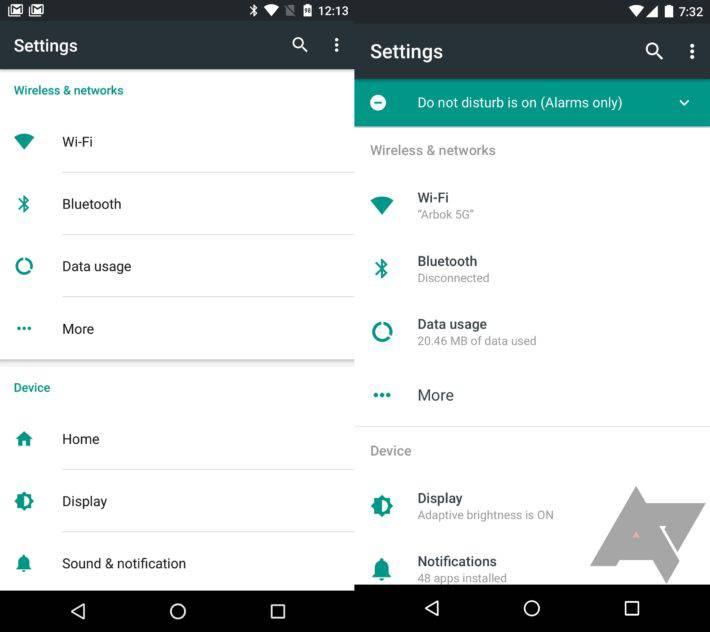 Comparison N settings