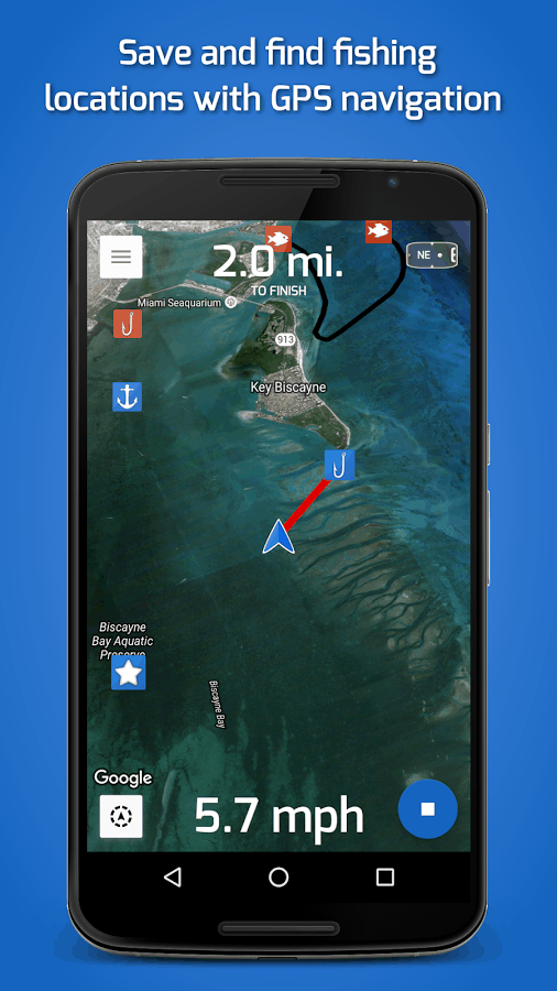 Fishing Points GPS Navigation