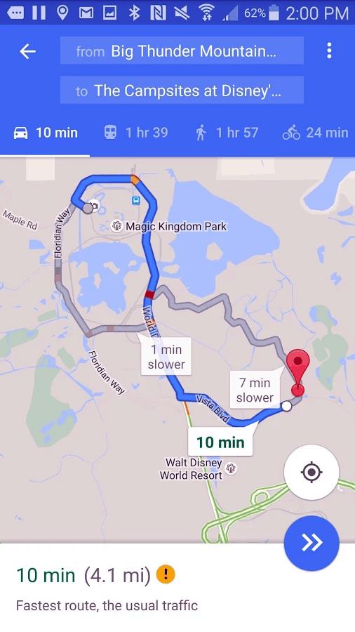 GPS Guide to DisneyWorld