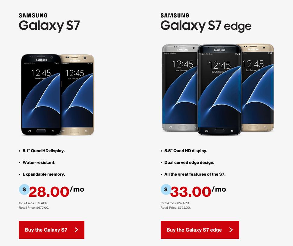 Galaxy S7 Verizon