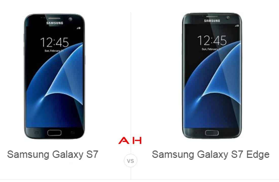 Galaxy S7 vs Galaxy S7 Edge cam AH