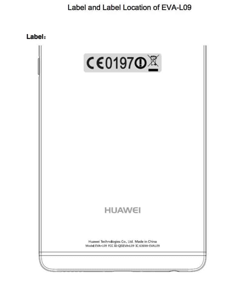 Huawei P9 Leak FCC Image KK