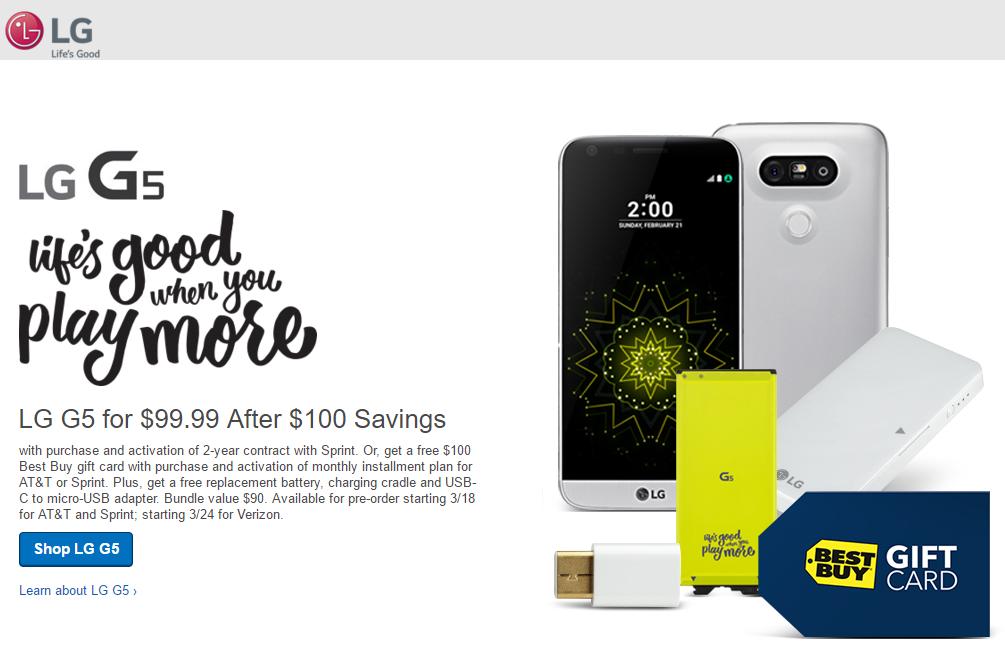 LG G5 Best Buy