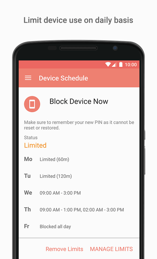 Parental control app for Android and iOS - Screen Time