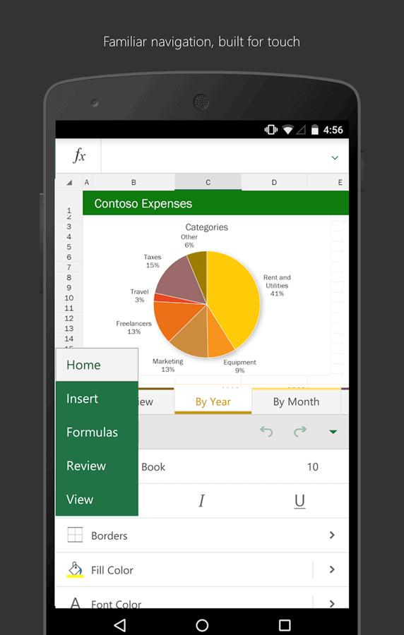Microsoft Excel phone