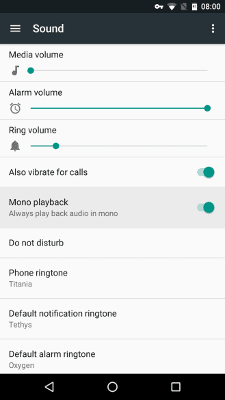 Mono Playback Android N AP