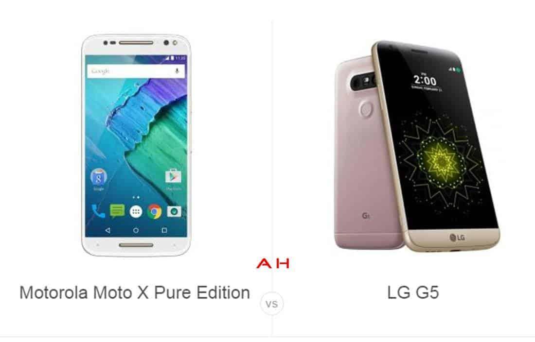 Moto X Pure vs LG G5 cam AH