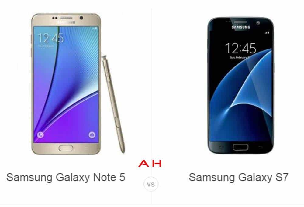 Note 5 vs Galaxy S7 cam AH