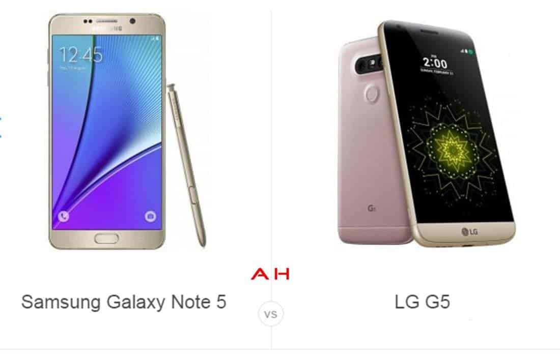 Note 5 vs LG G5 cam AH