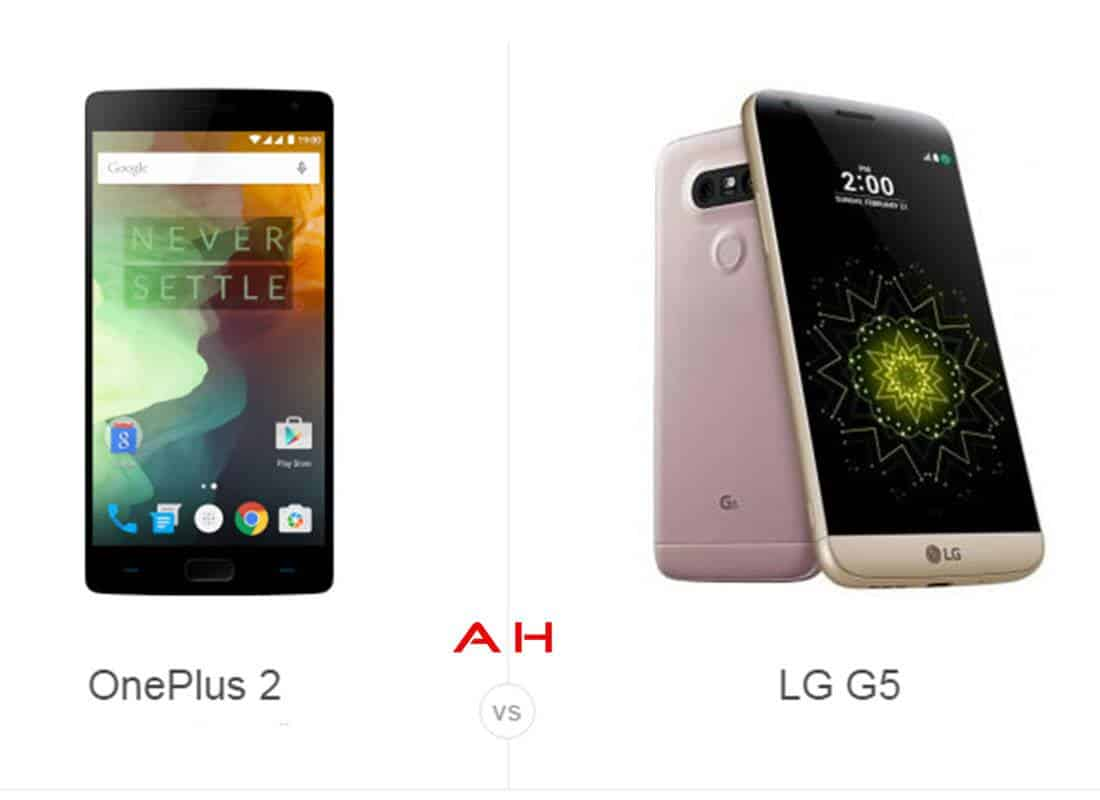 OnePlus Two vs LG G5 cam AH