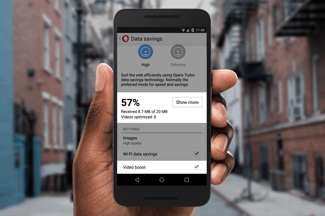 Opera Mini Video Boost