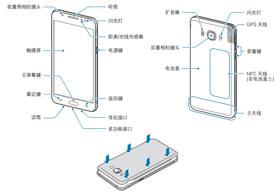 Samsung Galaxy J 2016_metal frame