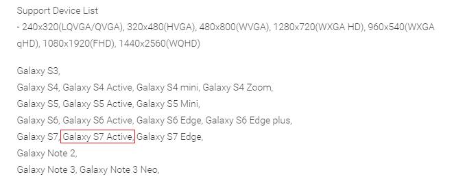Samsung Galaxy S7 Active_app description