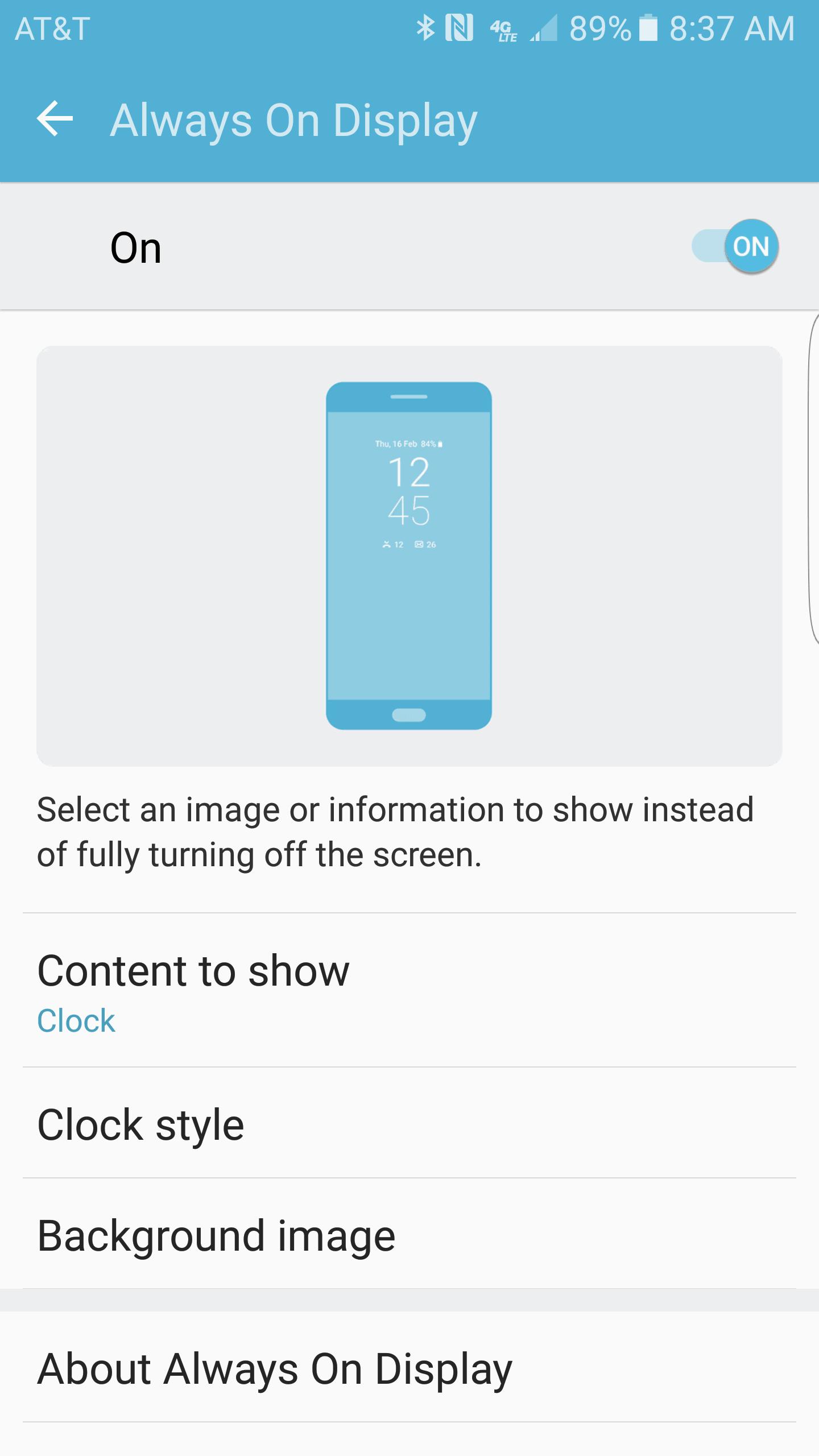 Samsung Galaxy S7 Edge AH NS Screenshot always on display