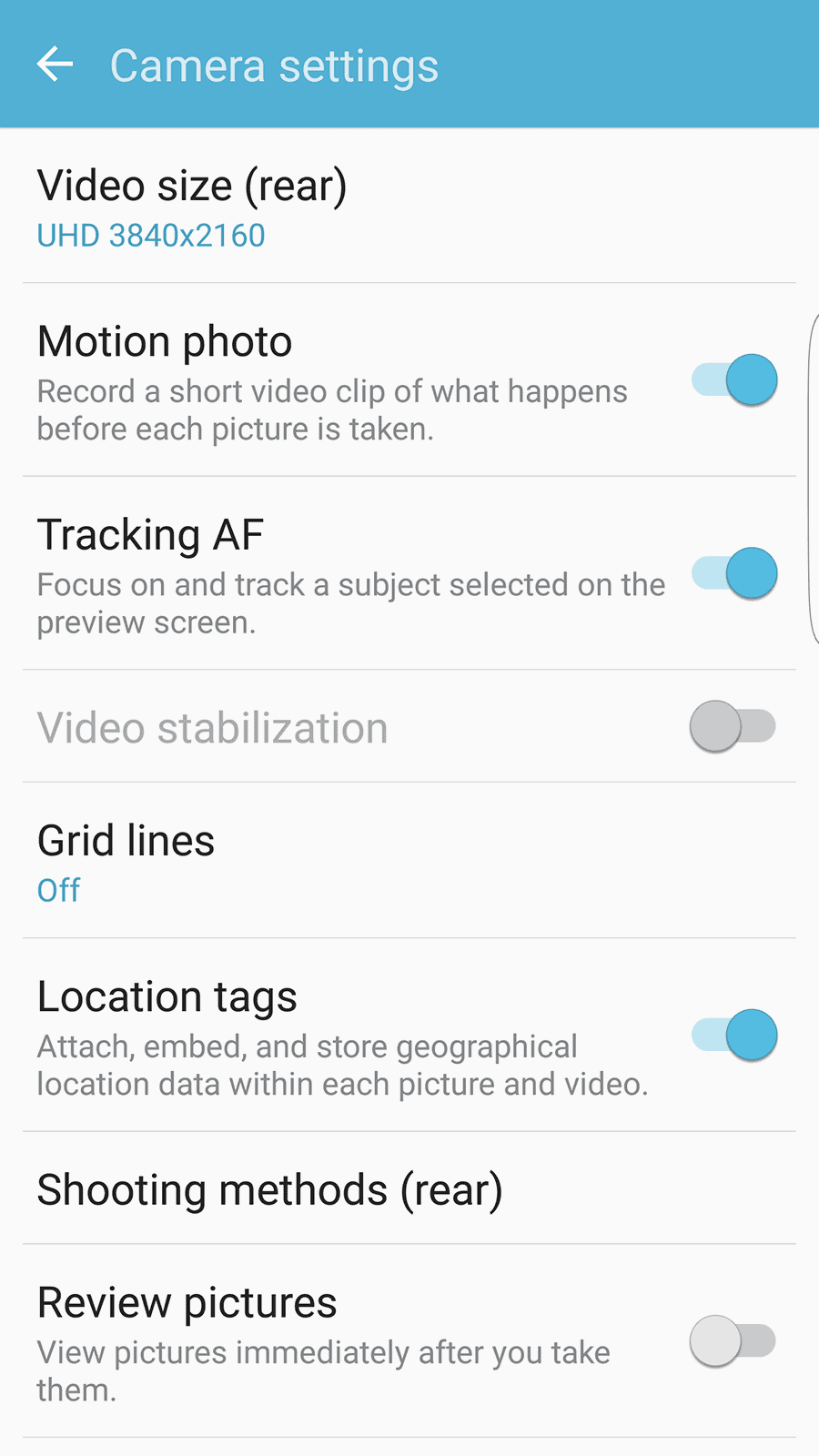 Samsung Galaxy S7 Edge AH NS Screenshot camera ui 7