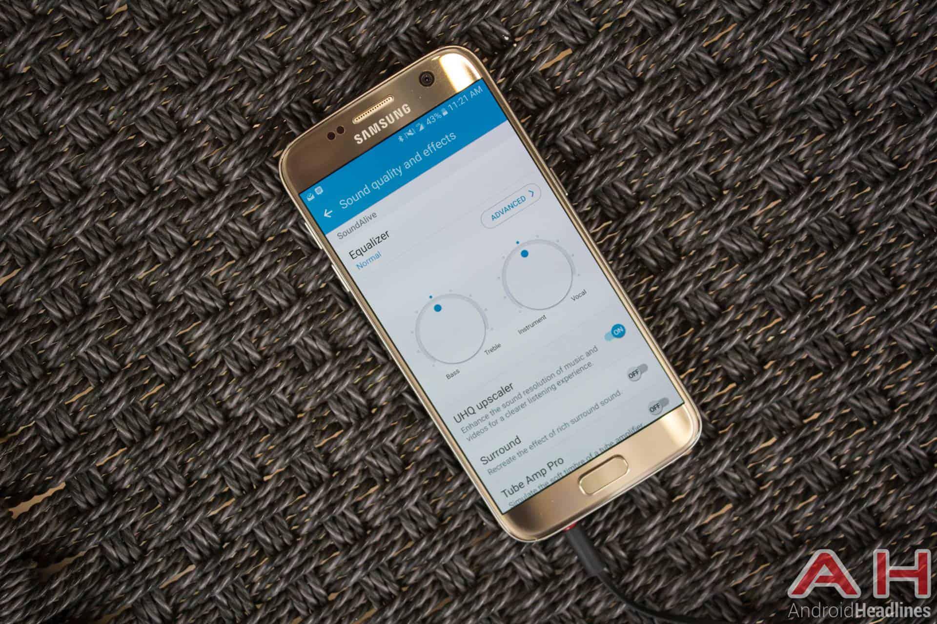 Samsung Galaxy S7 Gold AH NS audio equalizer