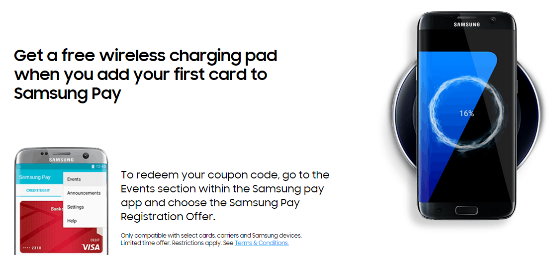 Samsung Pay Free Wireless Charger