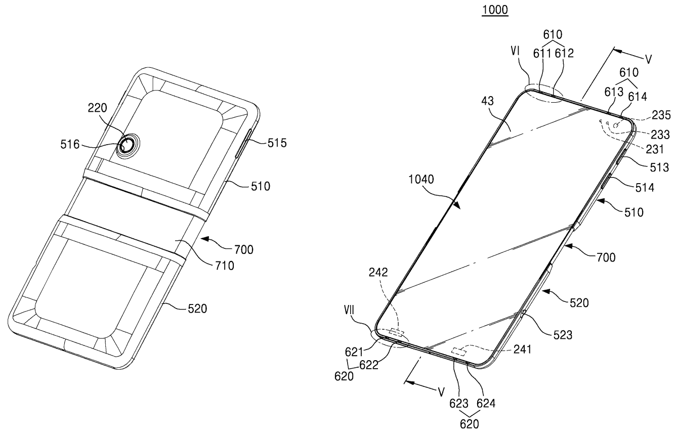 Samsungs Foldable Phone Patent PNG