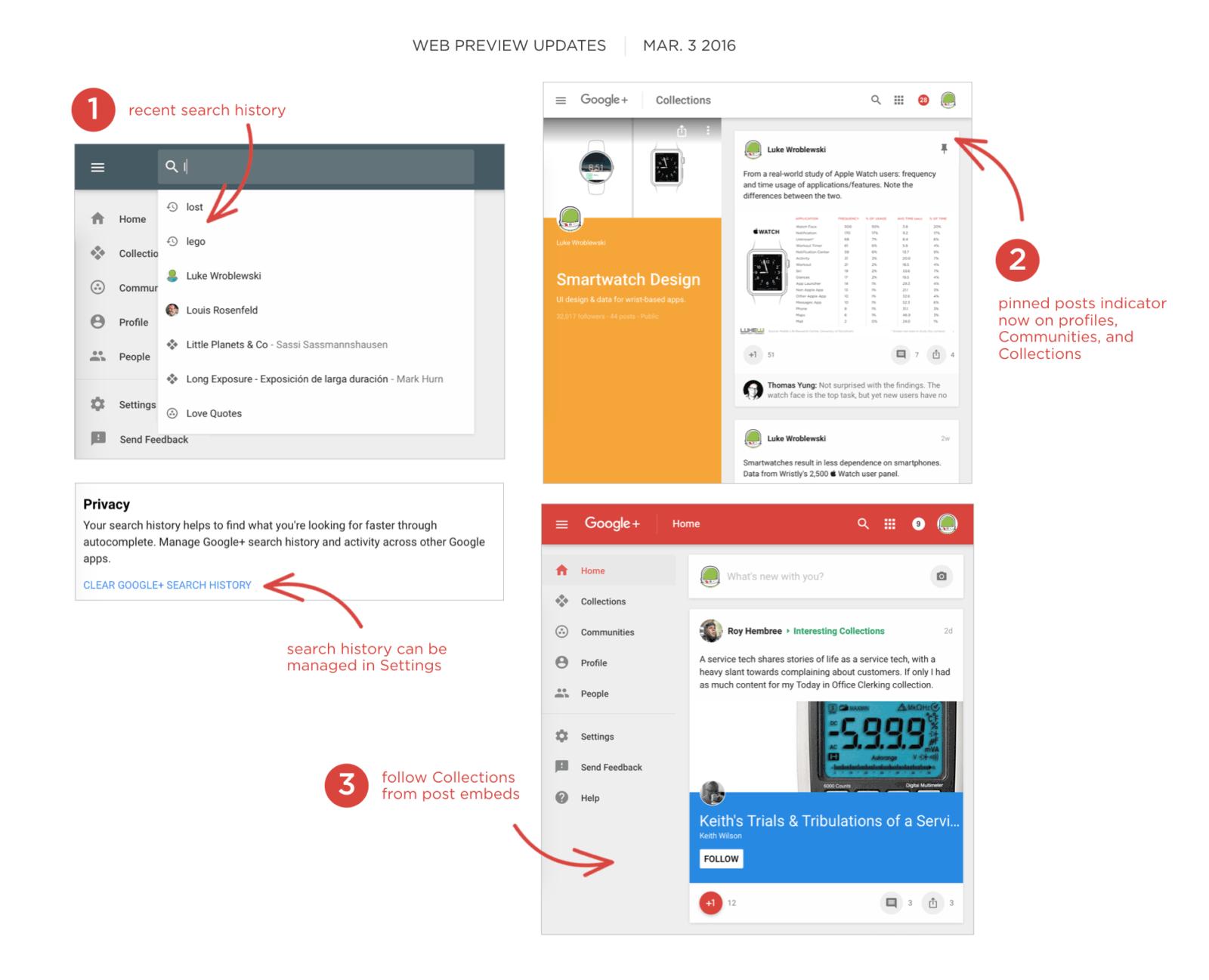 Google+ web preview