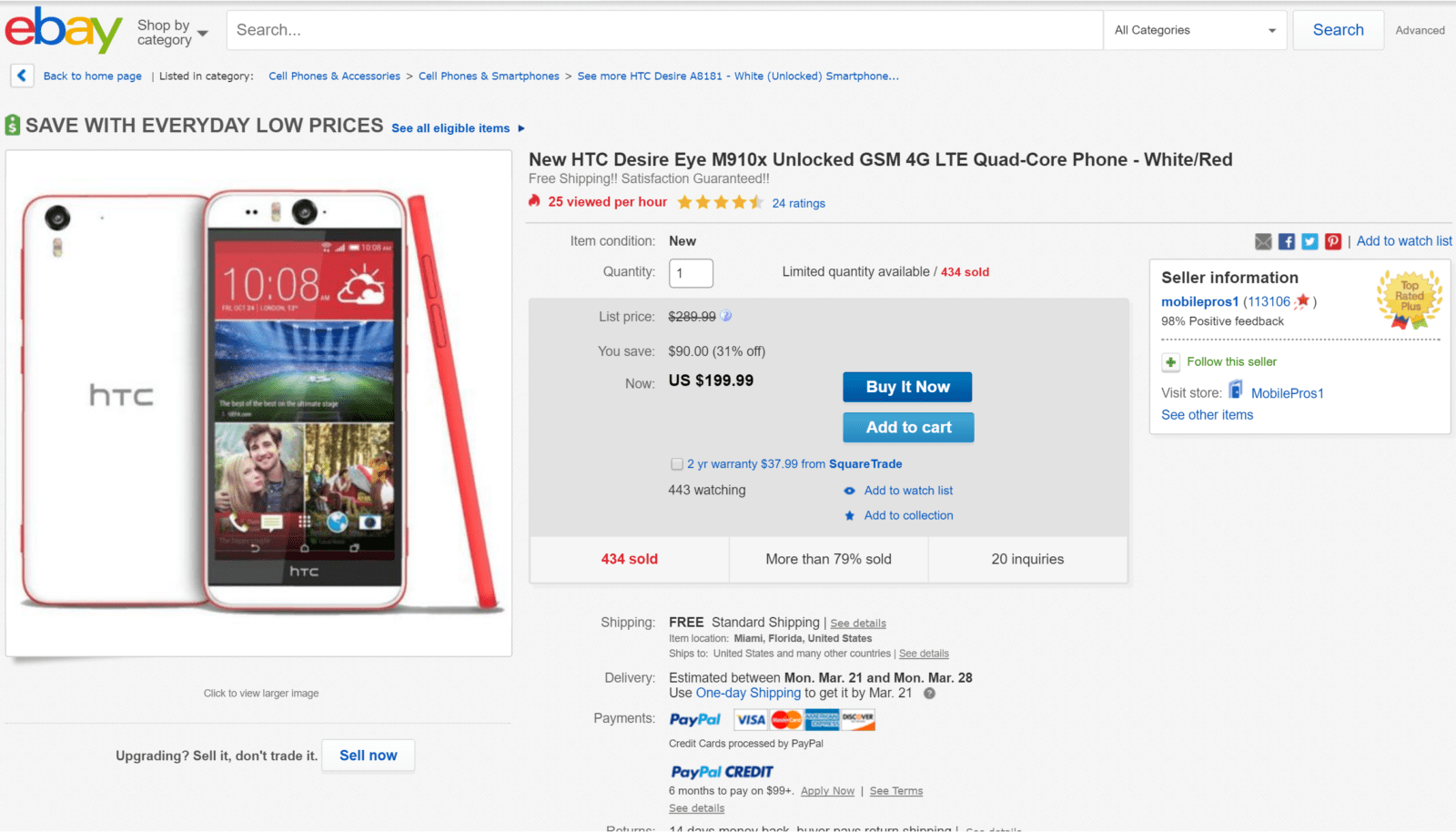 HTC Desire Eye deal