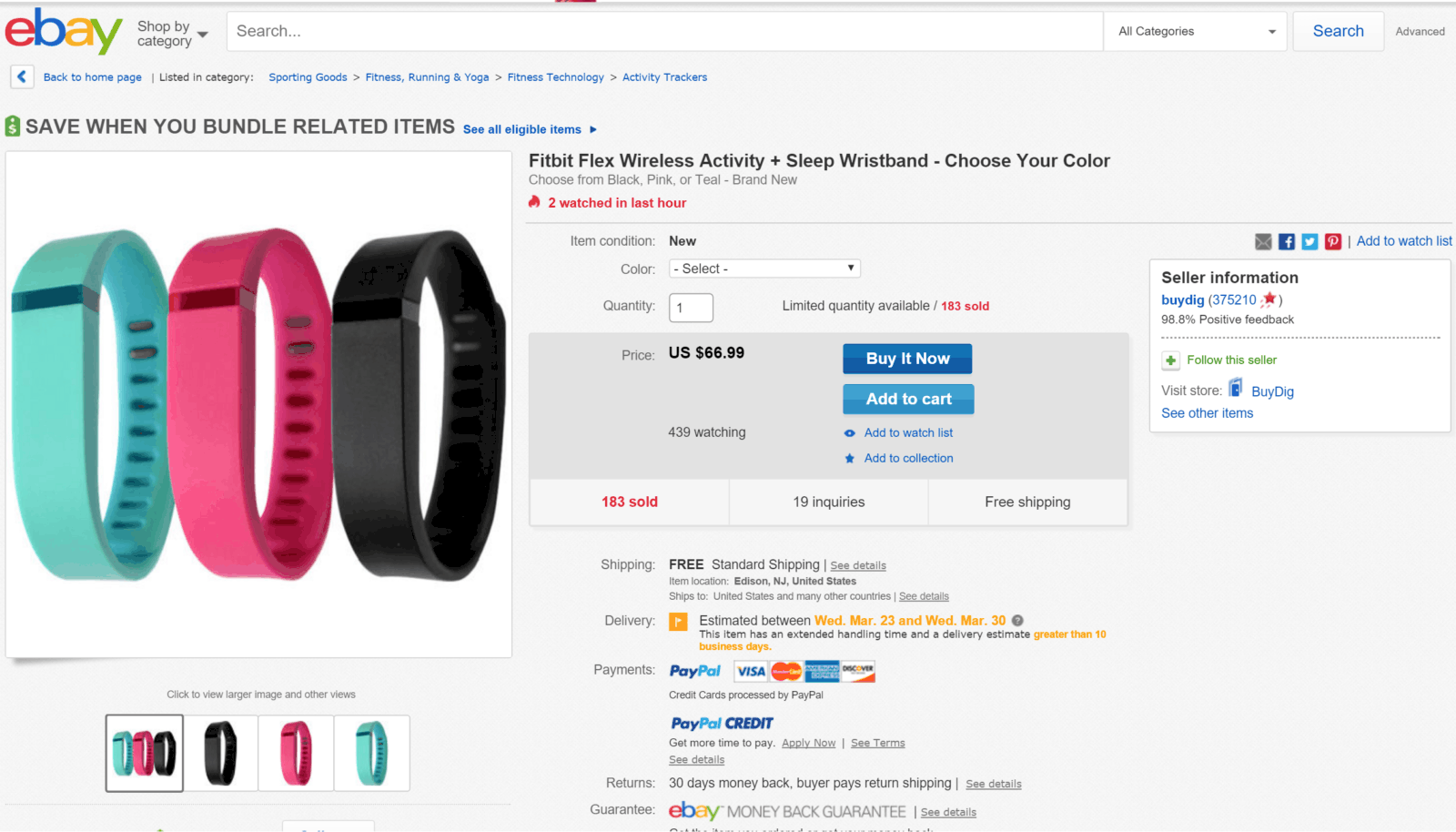 Fitbit Flex deal