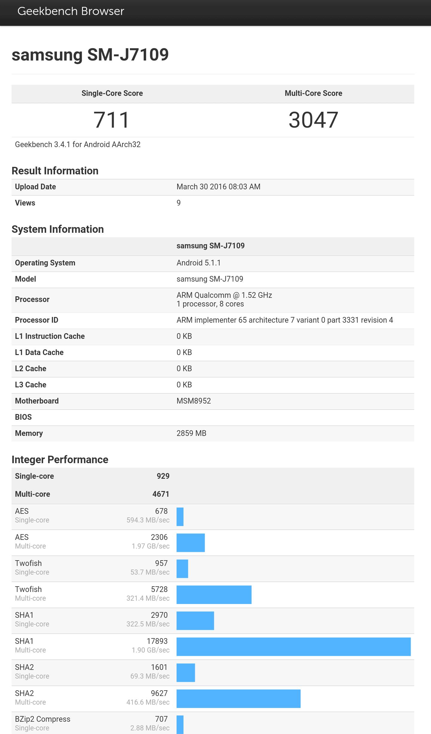 Galaxy J7 snapdragon variant benchmark