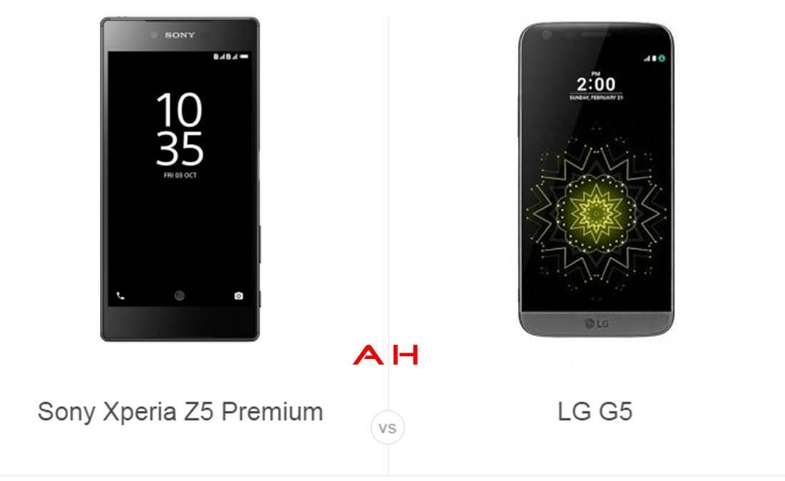 Xperia Z5 Prem vs LG G5 cam AH