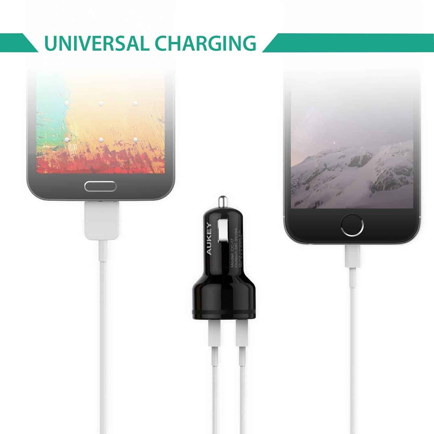 aukey quickcharge3 car charger 7