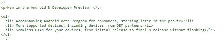 Andorid N code more OEMs
