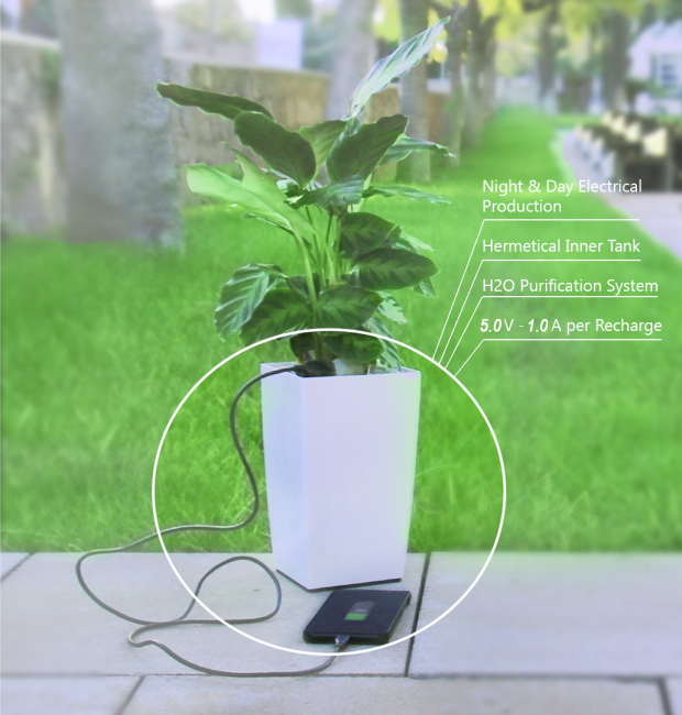 Bioo Lite Plant Pot Uses Solar Energy To Charge Devices