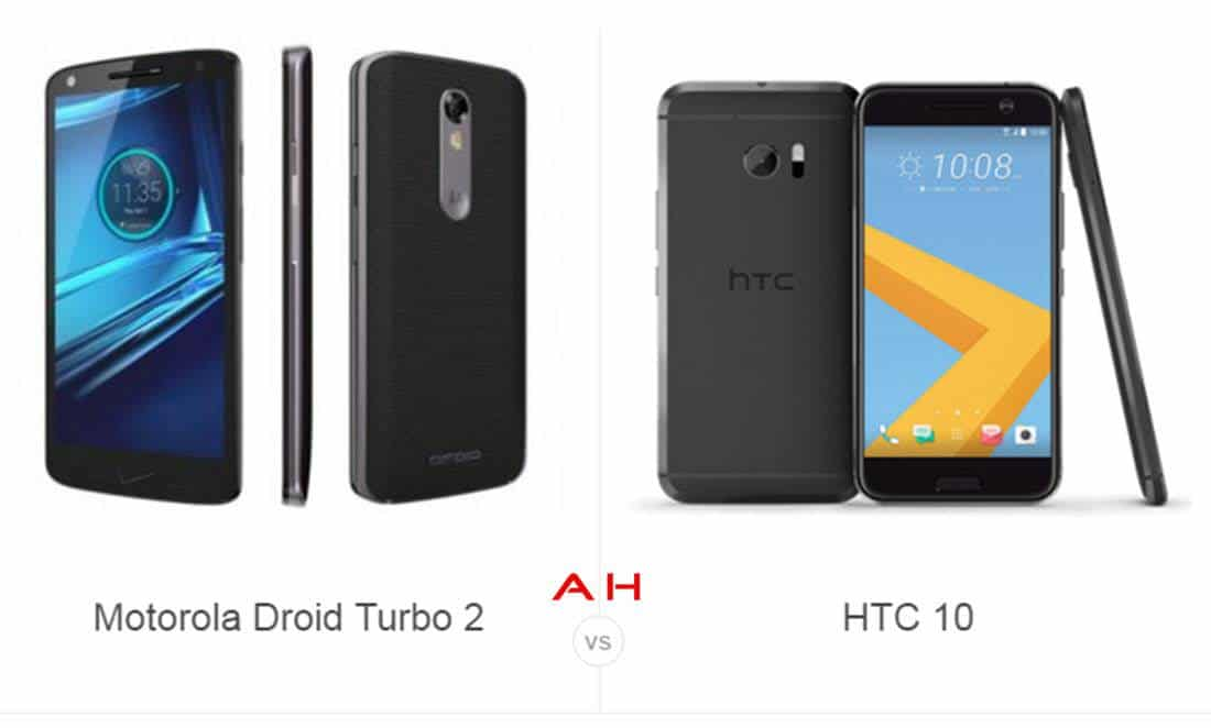 Droid Turbo 2 vs HTC 10 cam AH