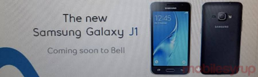 Galaxy J1 Coming to Bell