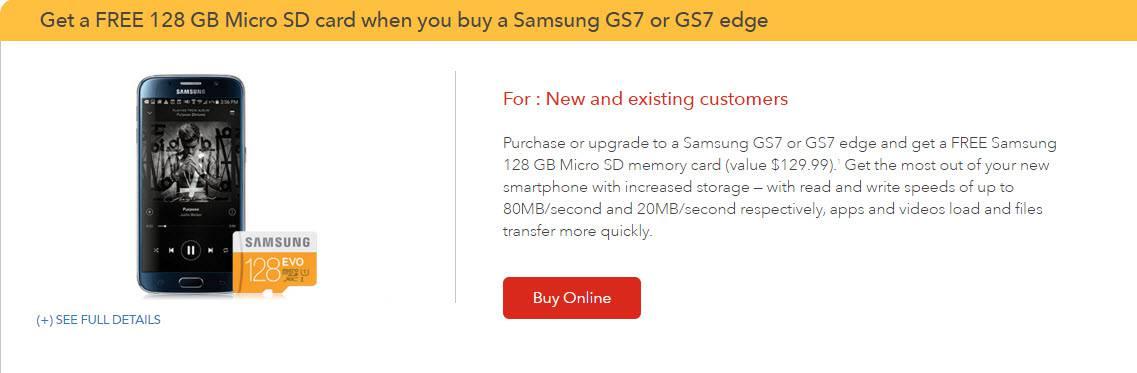 Galaxy S7 S7 Edge 128GB Card at Rogers