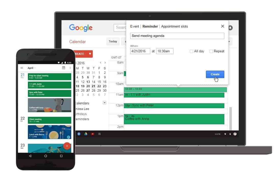 Google Calendar Web Reminders 2