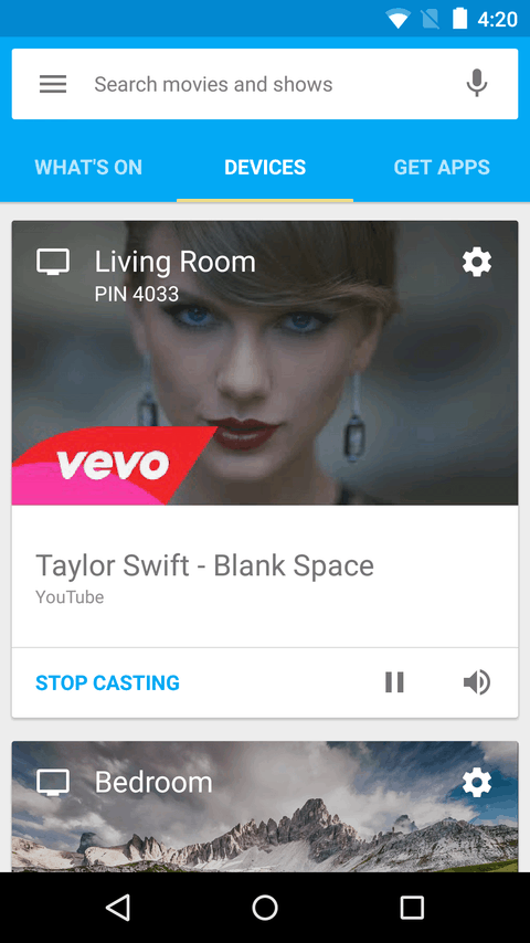 Google Cast Play Store