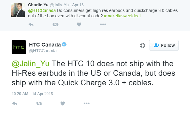 The HTC 10 Won't Ship With Hi-Res Earbuds In Canada & US ...