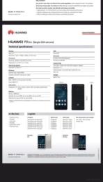 Huawei P9 Lite specifications leak 2