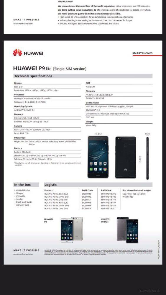 huawei p9 lite specification. before the end of this month, it is possible that company plans to announced both p9 lite and honor 5c at same time. either way, stay tuned. huawei specification