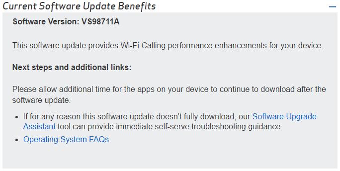 LG G5 Verizon Update