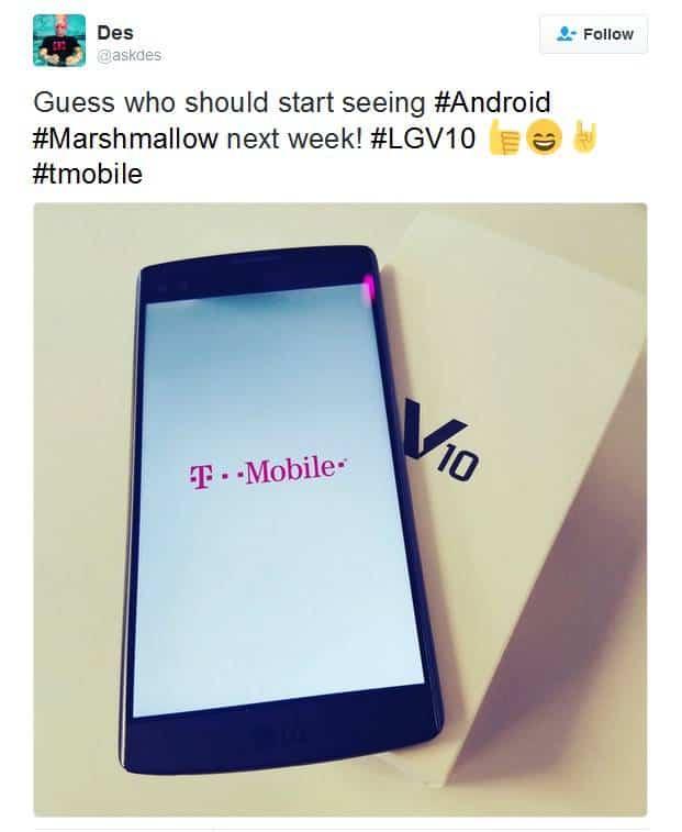 LG V10 Marshmallow Teaser KK