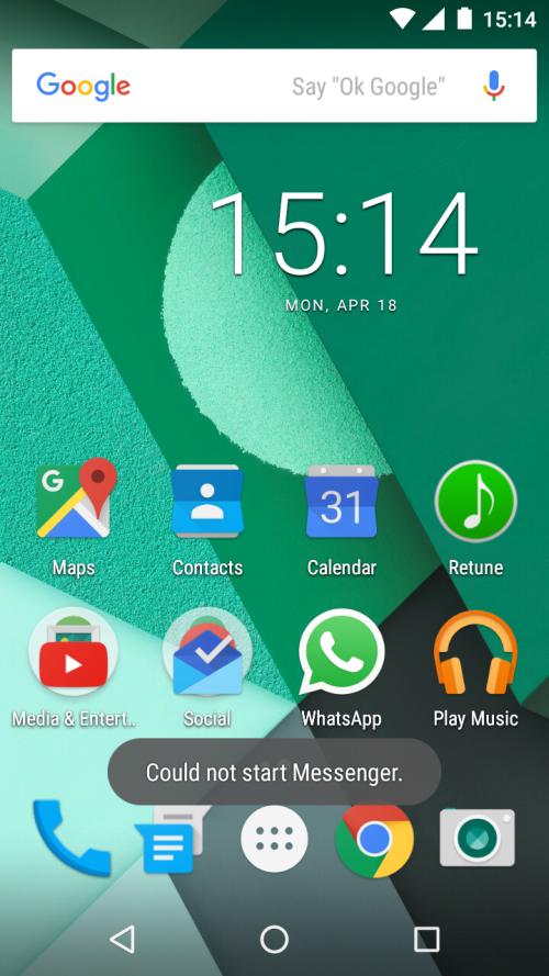 Moto G Could Not Start Messenger_1