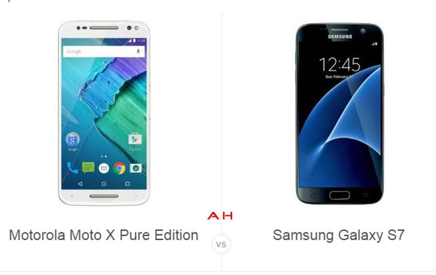 Moto X Pure Edition vs Galaxy S7 cam AH