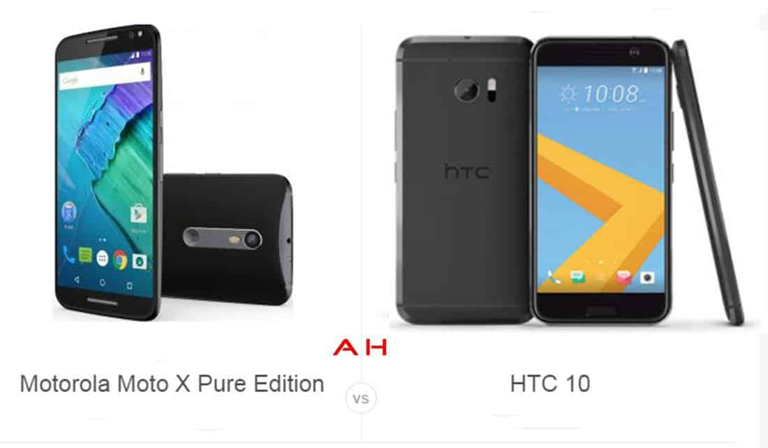 Moto X Pure vs HTC 10 cam AH