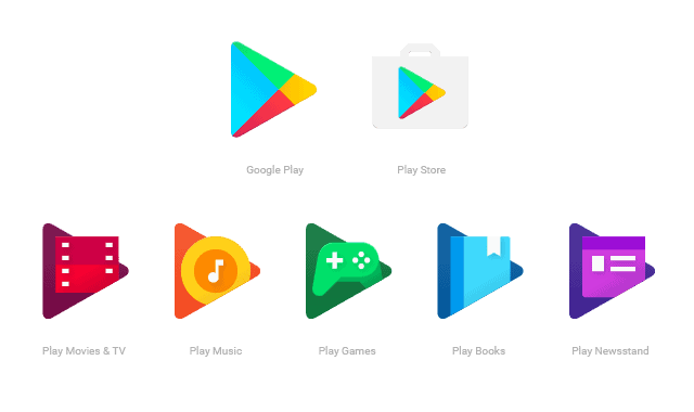 New Google Play Icons