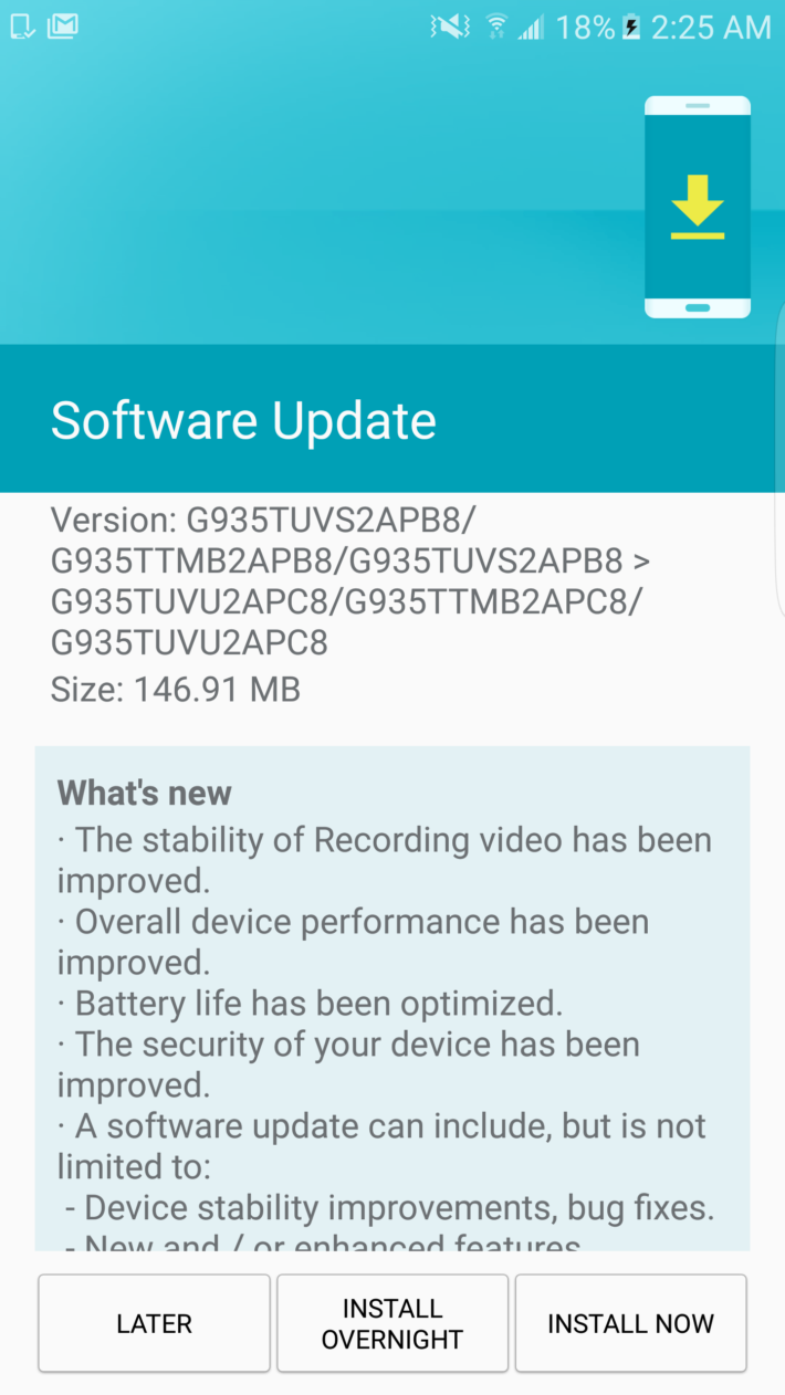 New T-Mobile Galaxy S7 edge Update!! - Imgur
