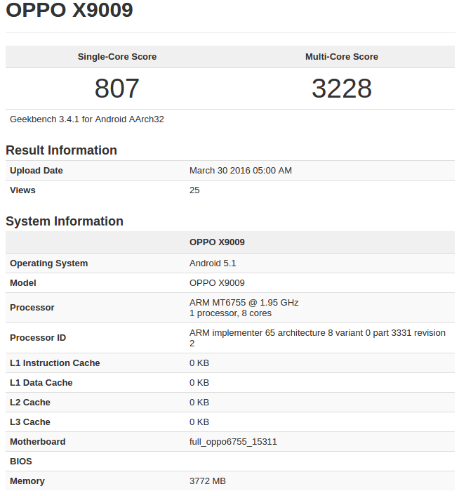 Oppo X9009 (Find 9) Geekbench_1