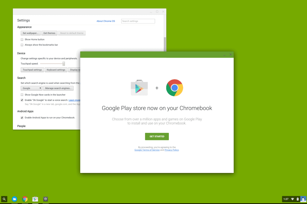 Play Store on Chrome OS